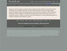 Tablet Preview of aldenlaw.net